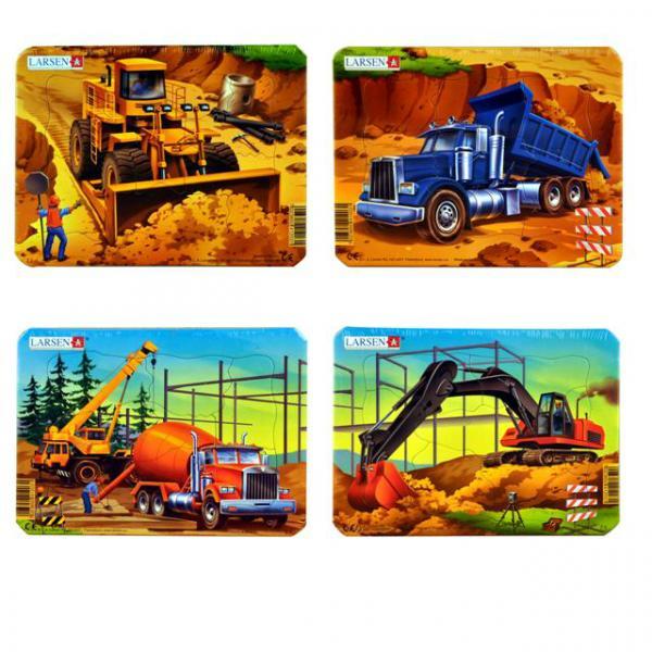 Mini Puzzle 7 Parça : İnşaat Araçları